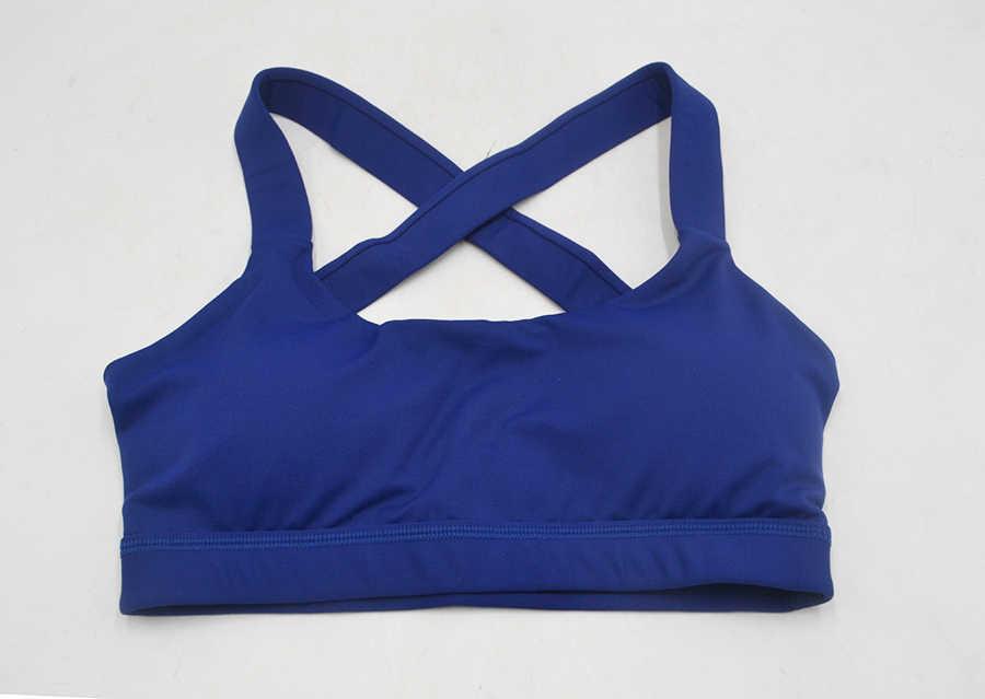 2018 الإناث اليوغا الصدرية امرأة حمالة الصدر الرياضية ترفع نشط ارتداء قمم للنساء رياضة حمالة الرياضة الصدرية كريسس الصليب المحاصيل أعلى