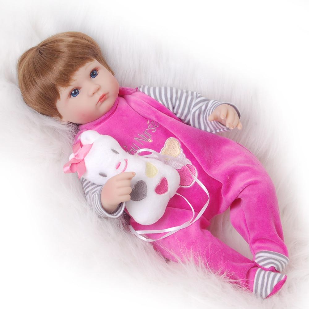 Keiumi 17inches Silicone Reborn Doll Baby Reborn Realistic