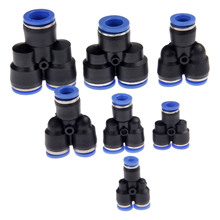 5Pcs/Lot Pneumatic Parts 3 Way Air Connector Y Union 4/6/8/10/12mm Tube Pipe Quick Joint Fittings Push in Connectors