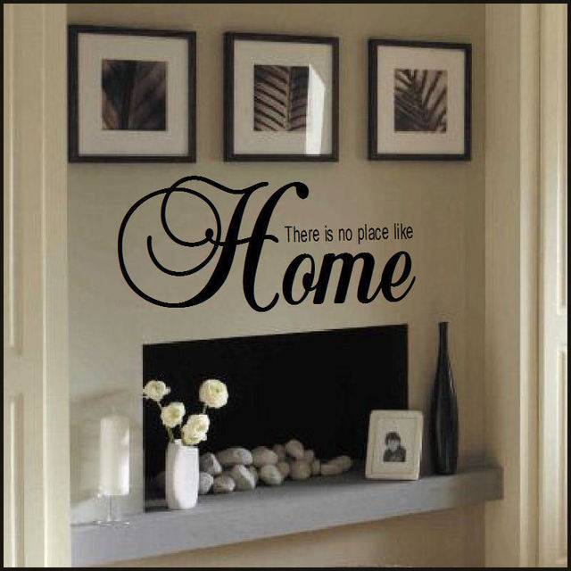 Large Quote There Is No Place Like Home Wall Sticker New Art China Transfer Decor