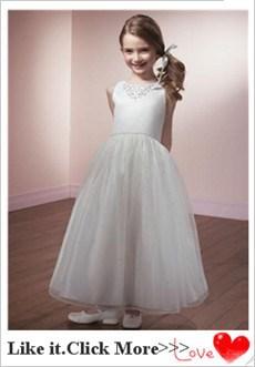 ec509e90d Pretty White Flower Girl Dresses Decorated With Lace Vestido De ...