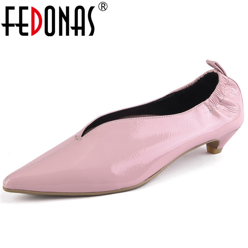 FEDONAS New Sexy Women Pointed Toe Party Wedding Shoes Woman High Heels Genuine Leather Spring Dancing