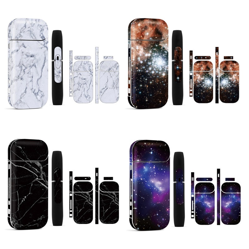 New Arrival Star Sky PVC Material 3M Printing Label Sticker Suitable For IQOS 2.4 Plus Decal Skin Antiscratch Sticker