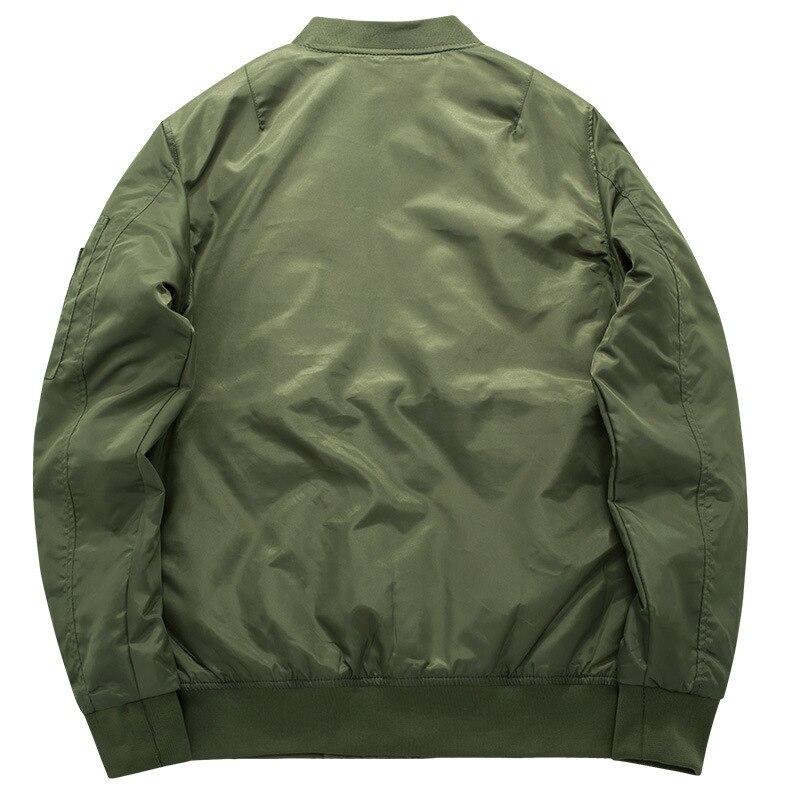 Army Green Military motorcycle Ma-1 aviator pilot Air men bomber jacket 11