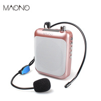 MAONO Voice Amplifier Megaphone Booster Microphone Mini Portable Speaker Professional Mic with FM for Teacher Tour Guides
