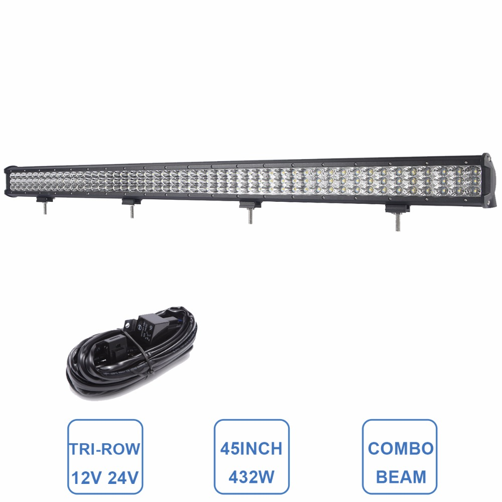 45 INCH OFFROAD LED LIGHT BAR COMBO 12V 24V Car AUTO ATV TRUCK TRAILER PICKUP 4WD 4X4 AWD UTE SUV TRACTOR DRIVING HEADLIGHT LAMP 9 inch osram chips 90w offroad led work light bar spot flood combo car truck trailer suv boat pickup 4wd 4x4 12v 24v headlight