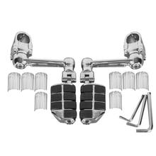 лучшая цена Motorcycle Adjustable Aluminum Front Pegs FootPegs Footrest For Honda Goldwing GL1800 22mm 30mm 35mm one pair