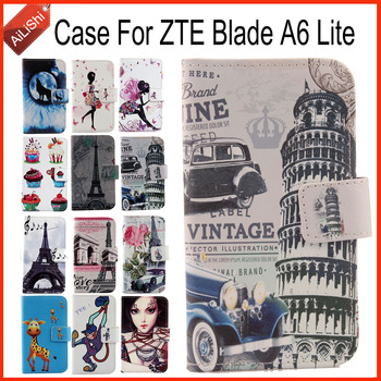 AiLiShi Factory Direct! Case For ZTE Blade A6 Lite Flip PU Cartoon Leather Case Exclusive 100% Special Phone Cover Skin+Tracking
