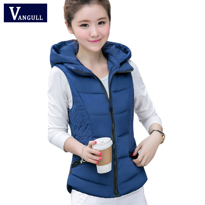 Winter Vest Women Brand cotton hooded down vest 2017 Windproof Warm Waistcoat veste femme Casual Thicken Jacket Plus size 3XL