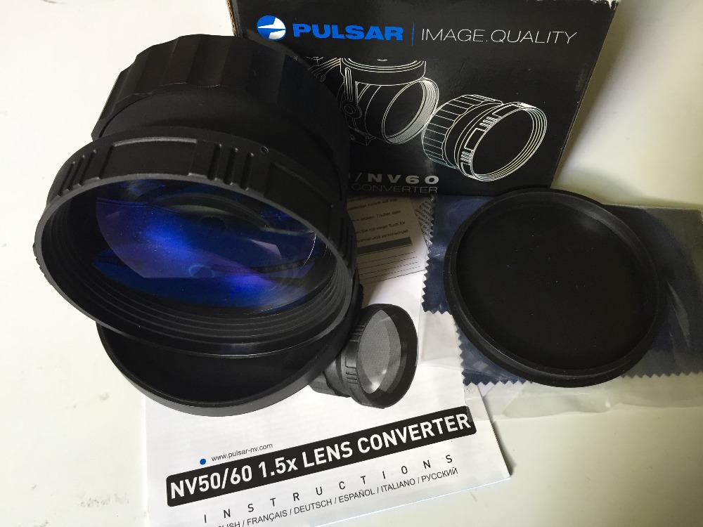 Pulsar 79097 NV60 1.5x Lens Converter  Pulsar NV 60mm used on Pulsar night vision riflescopes with a 60 mm objective lens select a vision sport readers with rectangular lens black
