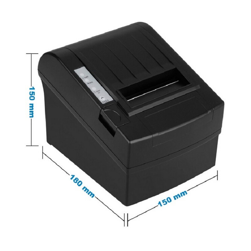 Wired 80mm USB thermal receipt printer with auto cutter 300mm/s print small ticket wholesale with a favourable price HS-802ULC serial port best price 80mm desktop direct thermal printer for bill ticket receipt ocpp 802