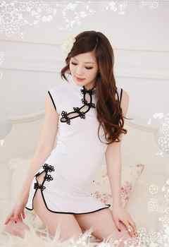 セクシーなランジェリー白伝統チャイナ女性ホットパジャマドレス