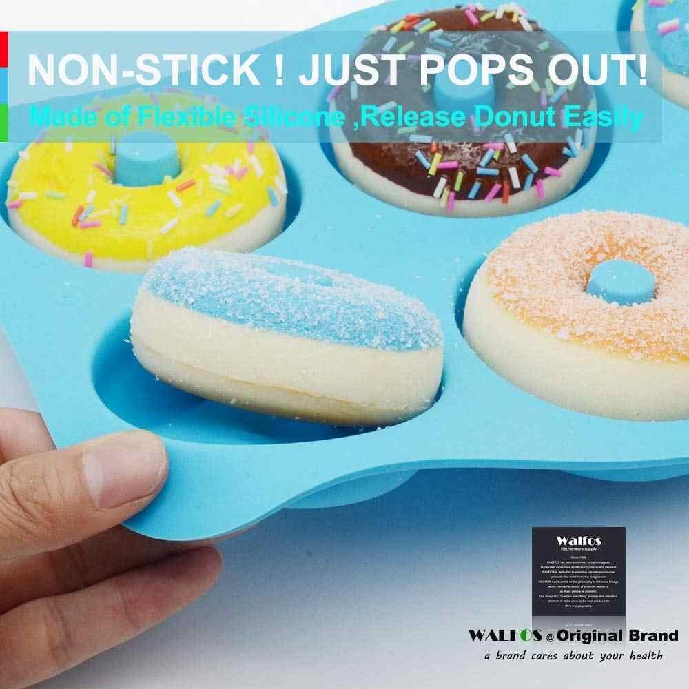 6 lỗ Bánh Rán Khuôn Mẫu của Silicone Vòng Hình Dạng Bánh Rán Khuôn Nướng Bánh Jelly Fondant Khuôn Bánh Sô Cô La Trang Trí Nấu Ăn Công Cụ Pastry