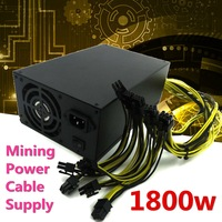 1800W PSU Power Cable Supply Mining Cion For Bitcoin Litecoin Antminer Machine High Quality Computer Power Supply For BTC