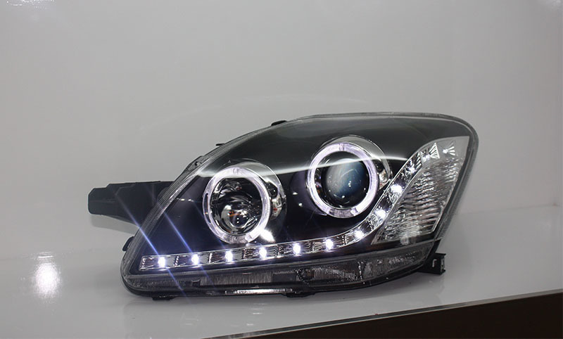 car styling for Toyota Vios led headlights for Yaris Headlight angle eyes headlamp projector lens 2008 2013 Front light-in Car Light Assembly from Automobiles & Motorcycles    3
