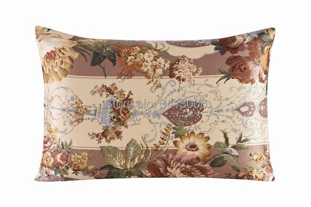 100% nature mulberry Silk pillowcase/both 2 sides/comfortable/solid/16mm zipper pillowcases for healthy/printing patterns