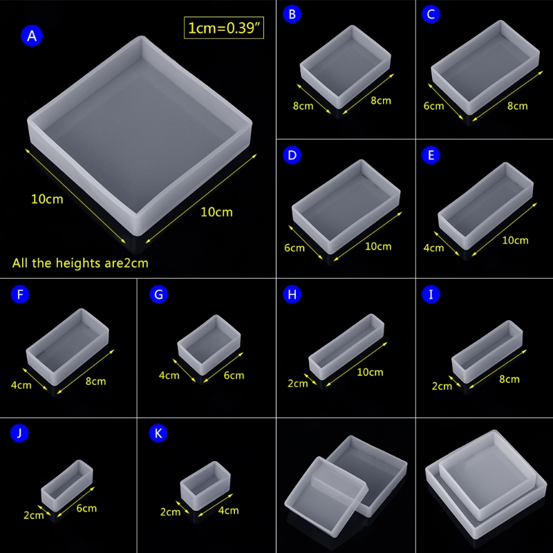 Silicone Mold DIY Square Rectangle Exopy Resin Mirror Crafts Jewelry DecorationSilicone Mold DIY Square Rectangle Exopy Resin Mirror Crafts Jewelry Decoration