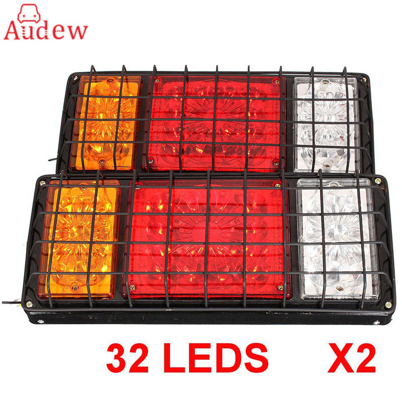 2Pcs LED 12/24V Stop Rear Turn Signal Lorry Stop Rear Tail Indicator Reverse Lamps Lights Trailer Truck 1 pair 12v 24v led stop rear turn signal lorry stop rear tail indicator reverse lamps lights trailer truck