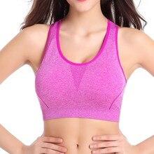 Sexy Lady Women Sports Bra Super Stretch Seamless Yoga Tank top Fitness M/L Underwear Shockproof Sport Bra Top
