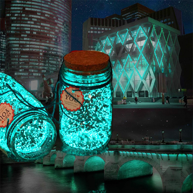 Diy Starry Wish Bottle 10g Sky Blue Luminous Glow In The Dark Party Bright Paint Star Wishing Fluorescent Particles