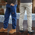 Fashion child trousers 2017 spring and autumn boys pants 100% cotton child solid color casual pants baby boy trousers