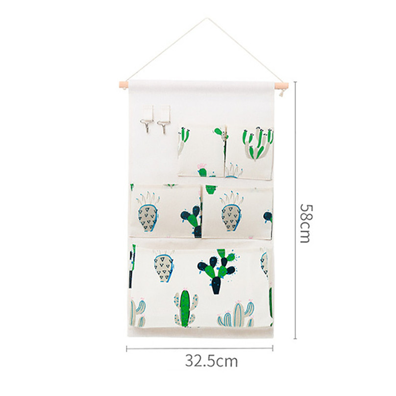 New Hanging Storage Bag Multiple Pockets Storage Hanging Bag Wall Mounted Door Pouch Room Organizer Underwear Socks Bag#25j10 (8)