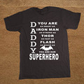 Daddy Superhero Papa Papaw Father Day Dad Birthday Daddy Letter Funny T Shirt Tshirt Men Cotton Short Sleeve T-shirt Top Tees