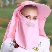 Sport Golf Ball Baseball-Cap Damen Sungreen Sonnenschutzkappe Maske 360 grad UV Golf Cap Fische Kappe Männer und Frauen Gewidmet Golf hüte