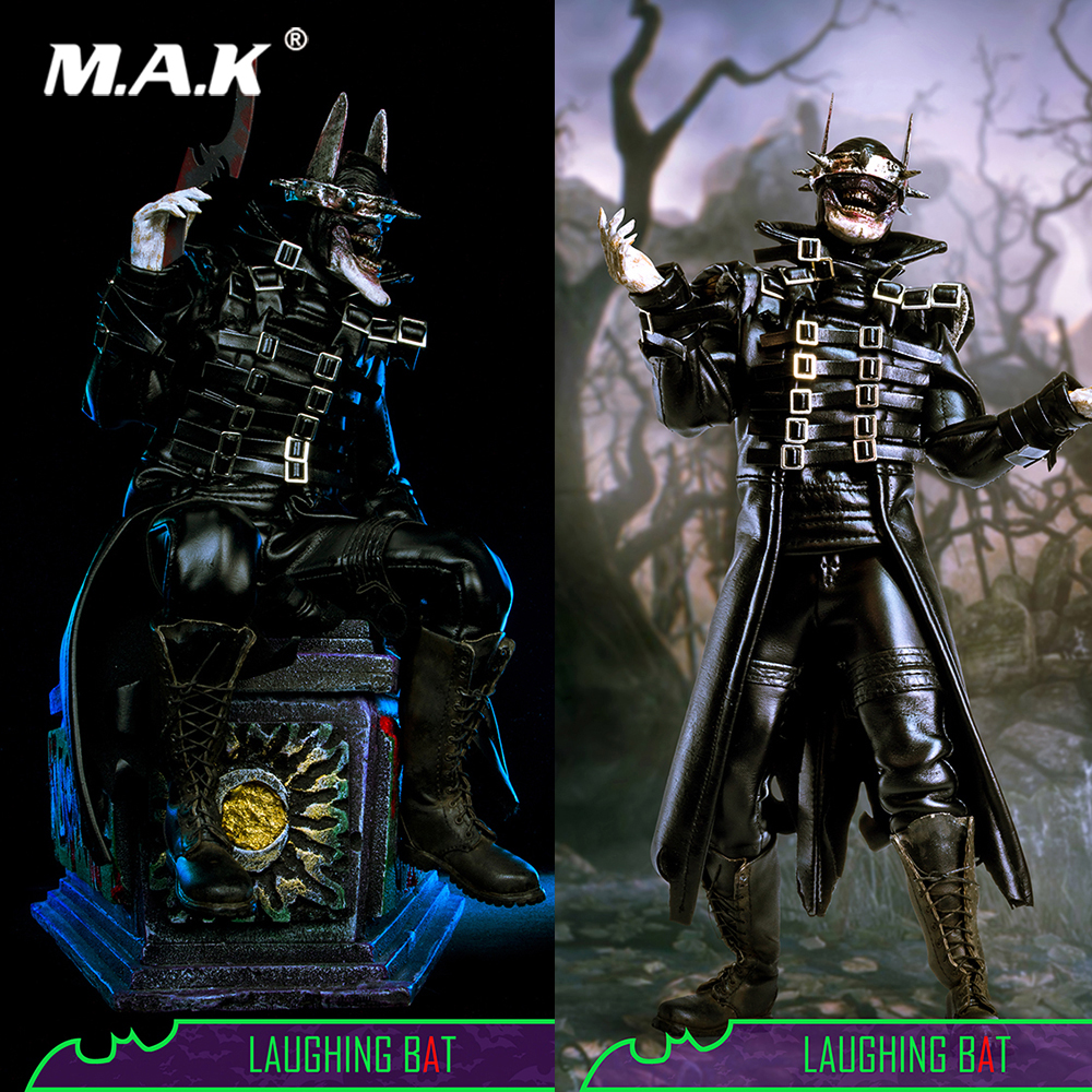 Collectible Full Set Action Figure 1/6 Dark Nights Metal Laughing Bat Batman Model Toys Deluxe/Normal Edition for Fans Gift 1 6 collectible full set elder predator action figure avp ht mms325 hot toys doll model gift box set specification for fans gift