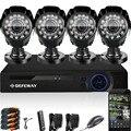 DEFEWAY 1080N HDMI DVR 1200TVL 720 P HD Al Aire Libre de la Seguridad Casera Sistema de cámara 8 CH DVR Video Vigilancia CCTV AHD Kit seguridad