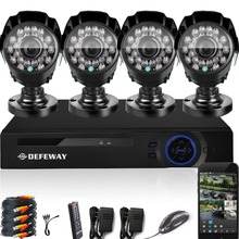 DEFEWAY 1080N HDMI DVR 1200TVL 720P HD Outdoor Home Security Camera System 8 CH Video Surveillance DVR AHD CCTV Kit seguridad