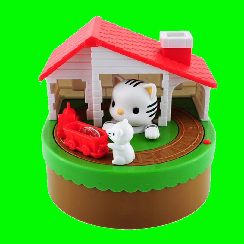 Cat And Mouse Bank Shaped Piggy Metal Coin Money
