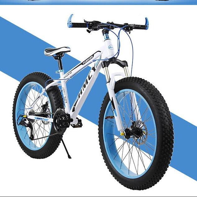 Shiping libre Large pneu VTT vélo/motoneige voiture/Plage De Sable de voiture/20/26 pouces * 7/24/27 vitesse/Double disque de frein/Haute en acier