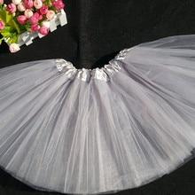 0863186b8 Envío gratis por EMS al por mayor barato plata gris faldas tutú para niñas