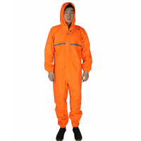 Raincoat Overalls Working Coveralls Waterproof Reflective Strip Anti Oily Dust Proof Paint Spray Clothing Hooded Work