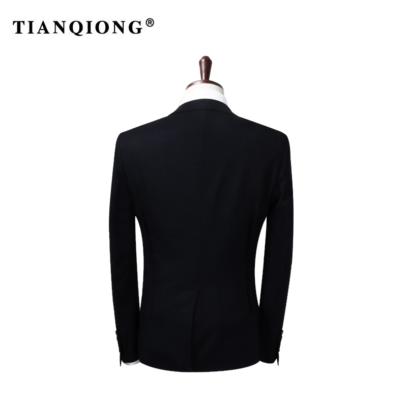 Image 4 - TIAN QIONG 2019 Famous Brand Mens Suits Wedding Groom Plus Size 4XL 3 Pieces(Jacket+Vest+Pant) Slim Fit Casual Tuxedo Suit Male-in Suits from Men's Clothing