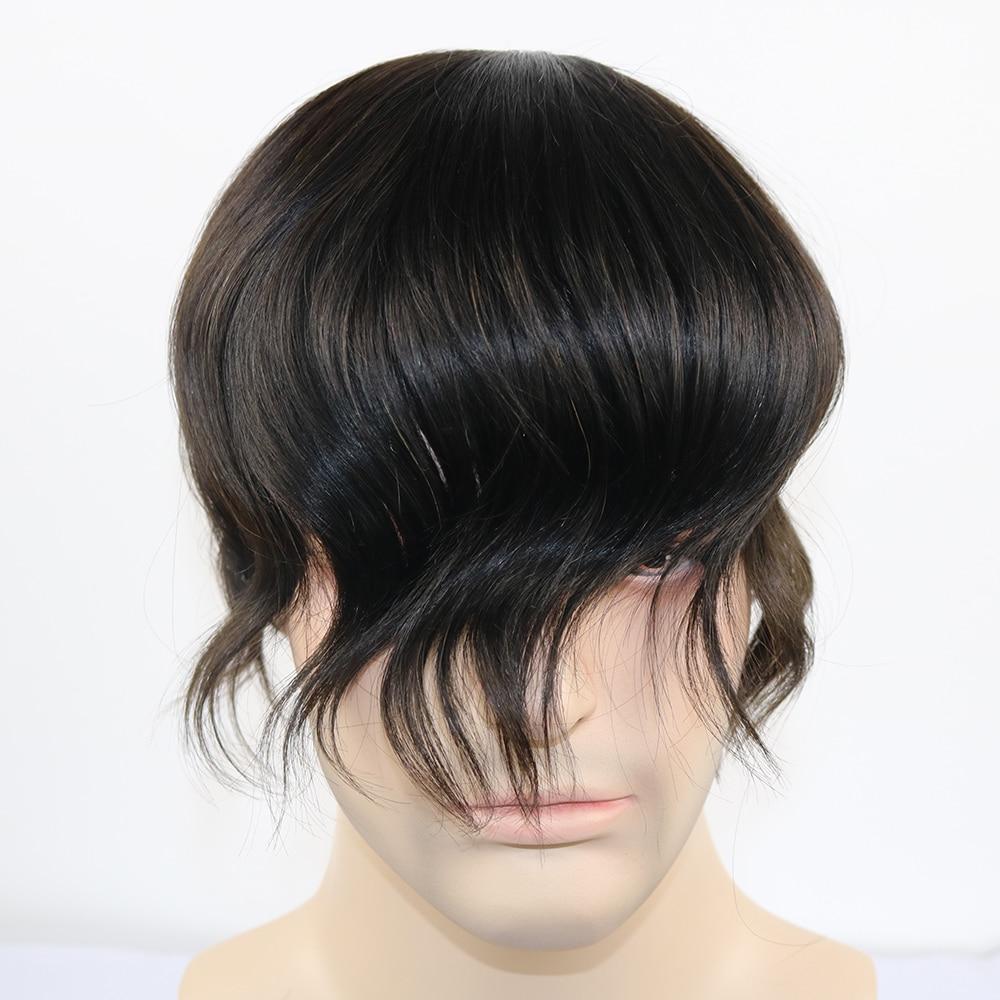 SimBeauty 100% Virigin Human Hair Fine Mono Toupee 6x8 7x9 8x10 Inches Mono Base Men Hair Piece 5 Color In Stock