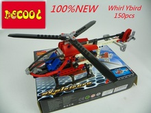 DECOOL Bricks 3336 150pcs Whirl Ybird RC Helicopter airplan action figure toys for children blocks FIT LEGO lepin minifigure lps