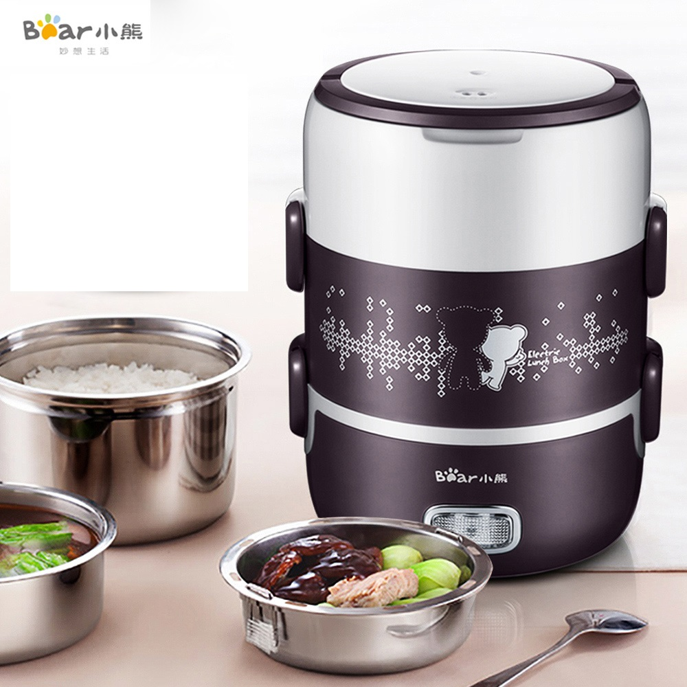 220V Multifunctional Portable 2L Electric Rice Cooker Stainless Steel Inner Lunch Box Multi Cooker With Vacuum Pump EU/AU/UK/US 110v 220v dual voltage travel cooker portable mini electric rice cooking machine hotel student multi stainless steel cookers