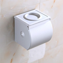 Free shipping Space aluminum paper holder with wall mounted cigarette putting toilet paper holder