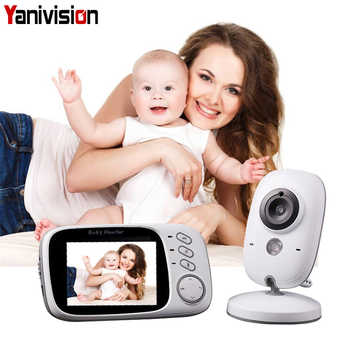3.2 Inch Baby Monitor Wireless Video Color Baby Nanny Security Camera Baba Electronic Night Vision Temperature Monitoring VB603 - DISCOUNT ITEM  16 OFF Security & Protection