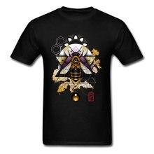 Camiseta con estampado de música de Rock, abeja de miel para hombres, camiseta de novedad en 3D, camisetas increibles personalizadas, camisetas creadoras bonitas para hombres