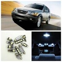 14pcs White Car Lamp LED Light Bulbs Interior Package Kit For 2003 2008 Kia Sorento Map
