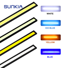 SUNKIA 17CM COB DRL LED Daytime Running Light Auto Lamp External Lights For Universal Car 100% Waterproof Day Light Car Styling