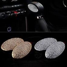 2pcs Metal Car Gear Shift Knob Panel Crystal Diamond Stickers Cover Accessories For Mini Cooper Clubman F54 F55 F56 Car Styling недорого