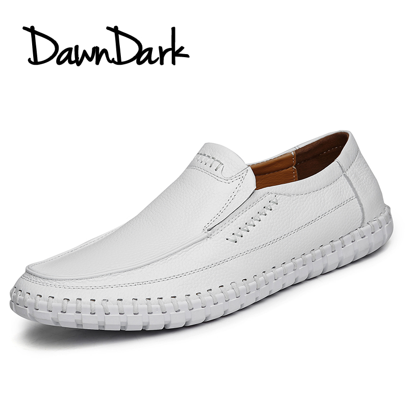 Men Casual Shoes Genuine Leather Male Soft Leather Flat Loafers - Men's Shoes - Photo 5
