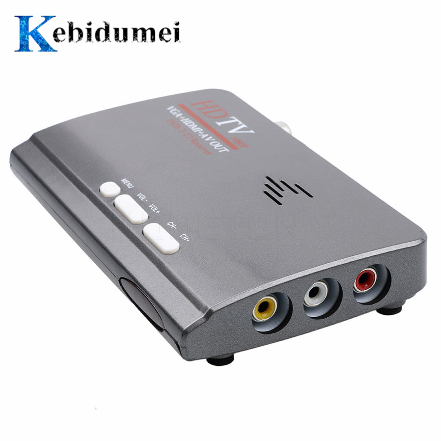Kebidumei 1080P DVB-T DVB-T2 TV Tuner Receiver DVB T T2 TV Box VGA AV CVBS HDMI digital HD Satellite receiver With Remote Contro