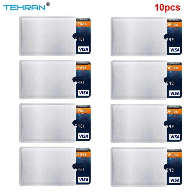 10 pacote Protetor de RFID Cartão RFID Bloqueando Mangas Anti Roubo RFID Bloqueando Manga Manga Cartão de Identidade Anti-Scan