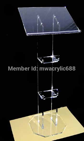 pulpit furniture Free Shipping HOT SELL Beautiful Acrylic Podium Pulpit Lectern acrylic podium