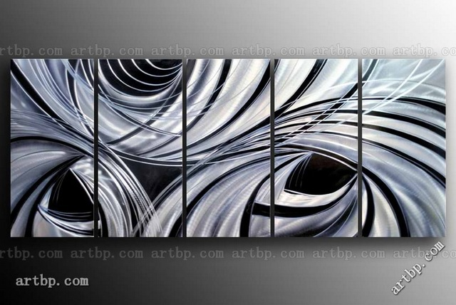 Gift Abstract Hand Painted Metal Wall Sculpture Office Home Art By Opv Acrylic Large Canvas